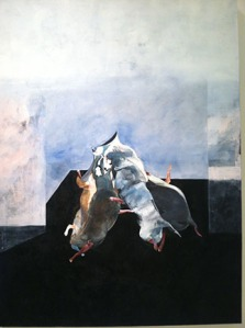Francis bacon replicar with a bit of dog leg collage