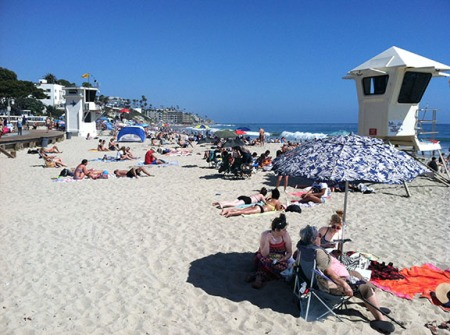 Laguna Beach on a Saturday, Orange County