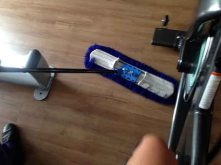 cleaningUnderpedalswhile pedaling